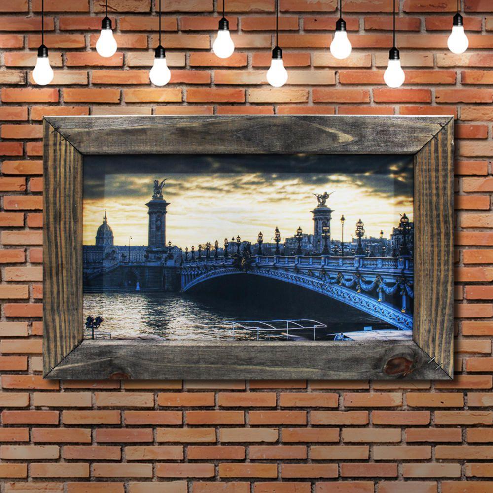 Quadro Decorativo Cidade Paris Sala Quarto Moldura 32x48cm