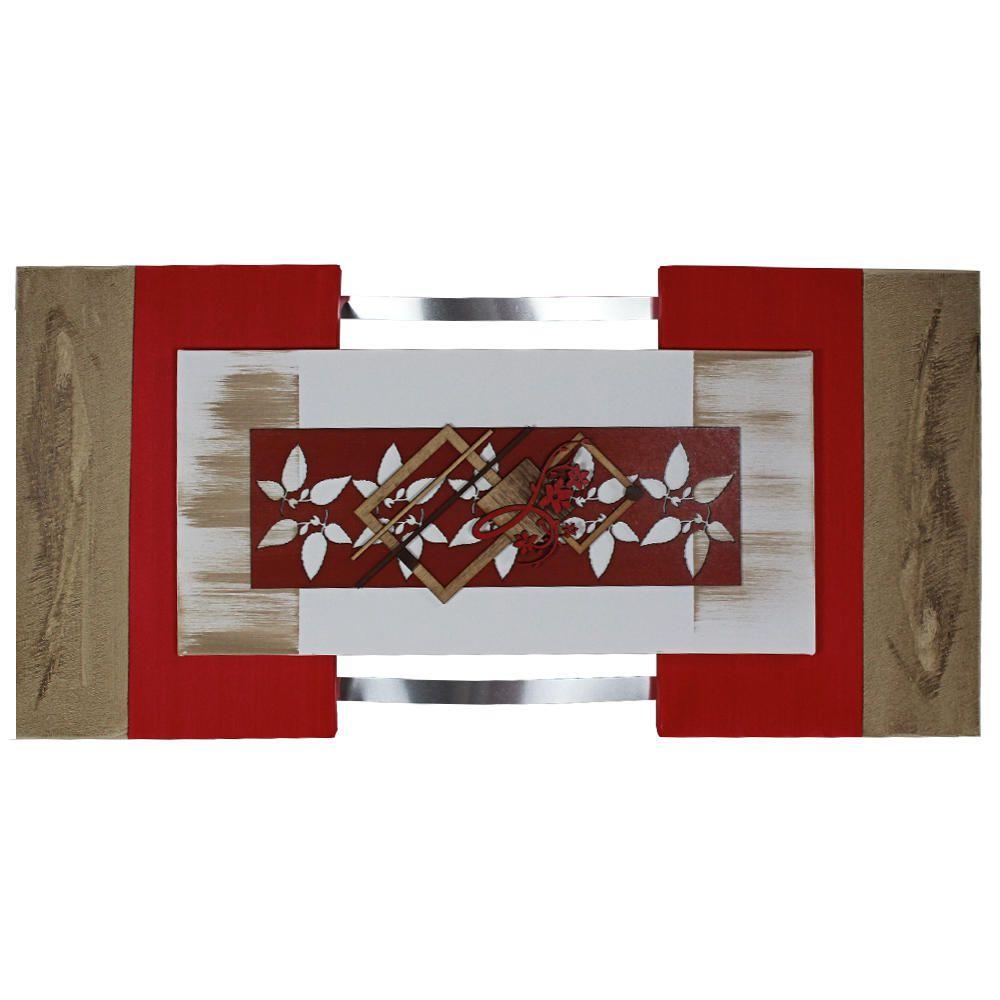 Quadro Decorativo Floral Abstrato Quarto Sala Jantar e Estar