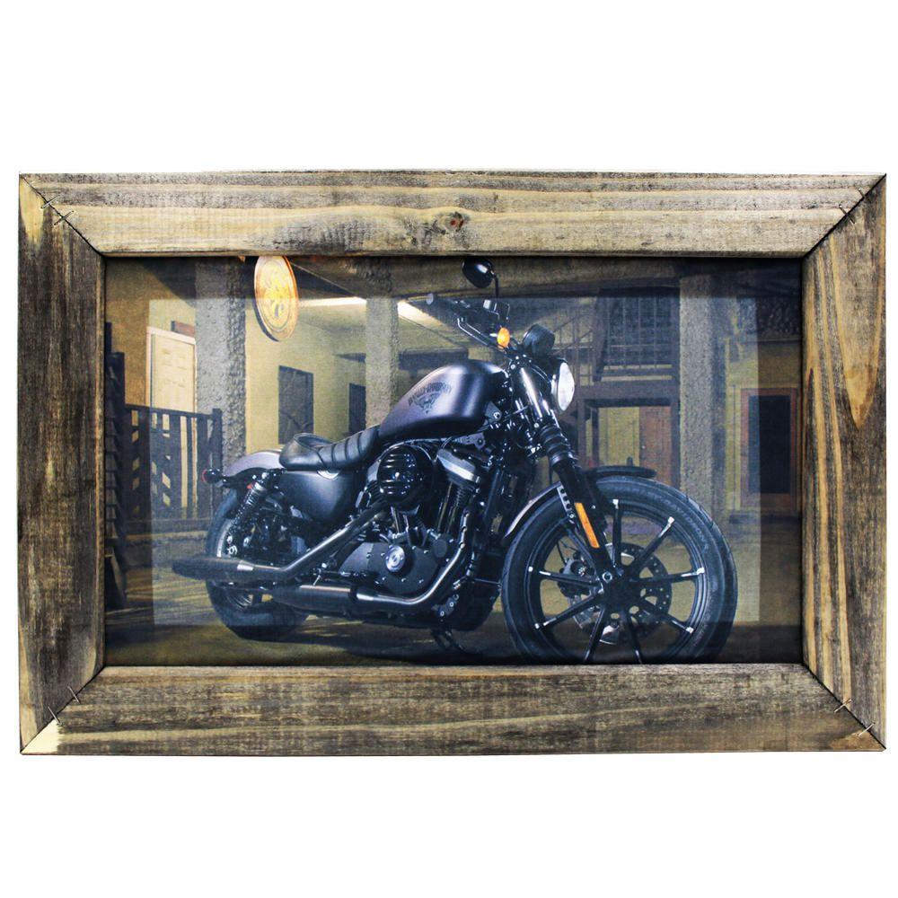 Quadro Decorativo Harley Davidson Sala Quarto Moldura 32x48cm