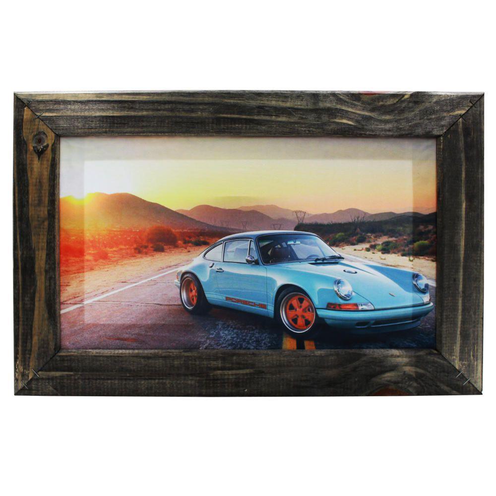 Quadro Decorativo Porsche Sala Quarto Moldura 32x48cm