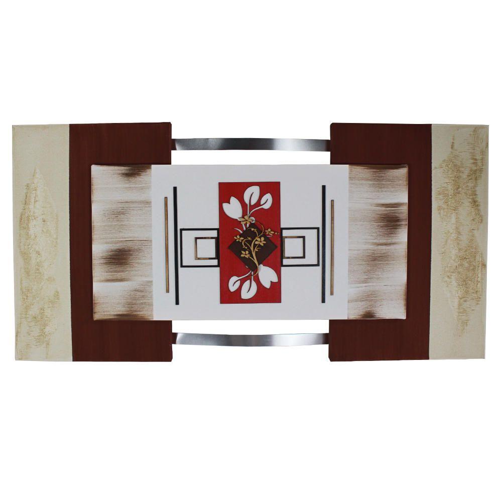 Quadro Floral Abstrato Decorativo Quarto Sala Jantar e Estar