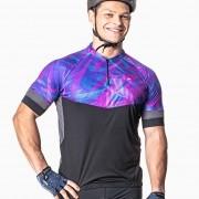 Camisa Ciclista Manga Curta Zíper Parcial Dynasty 04232