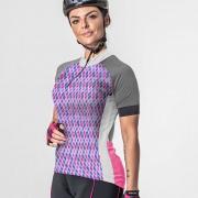 Camisa Ciclista Manga Curta Zíper Parcial Feminina Lusi 04277