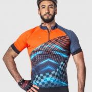 Camisa Ciclista Manga Curta Zíper Parcial Racing 04230