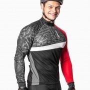 Camisa Ciclista Manga Longa Zíper Parcial Frost 04233