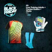 Kit Camisa Goleiro + Meião + Luva Training