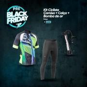 Kit Ciclista - Camisa + Calça + Bomba