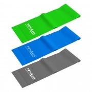 Kit Com 3 Faixas Elásticas Poker Leve/Média/Forte 1200x150x0.4/0.5/0.6mm 09110