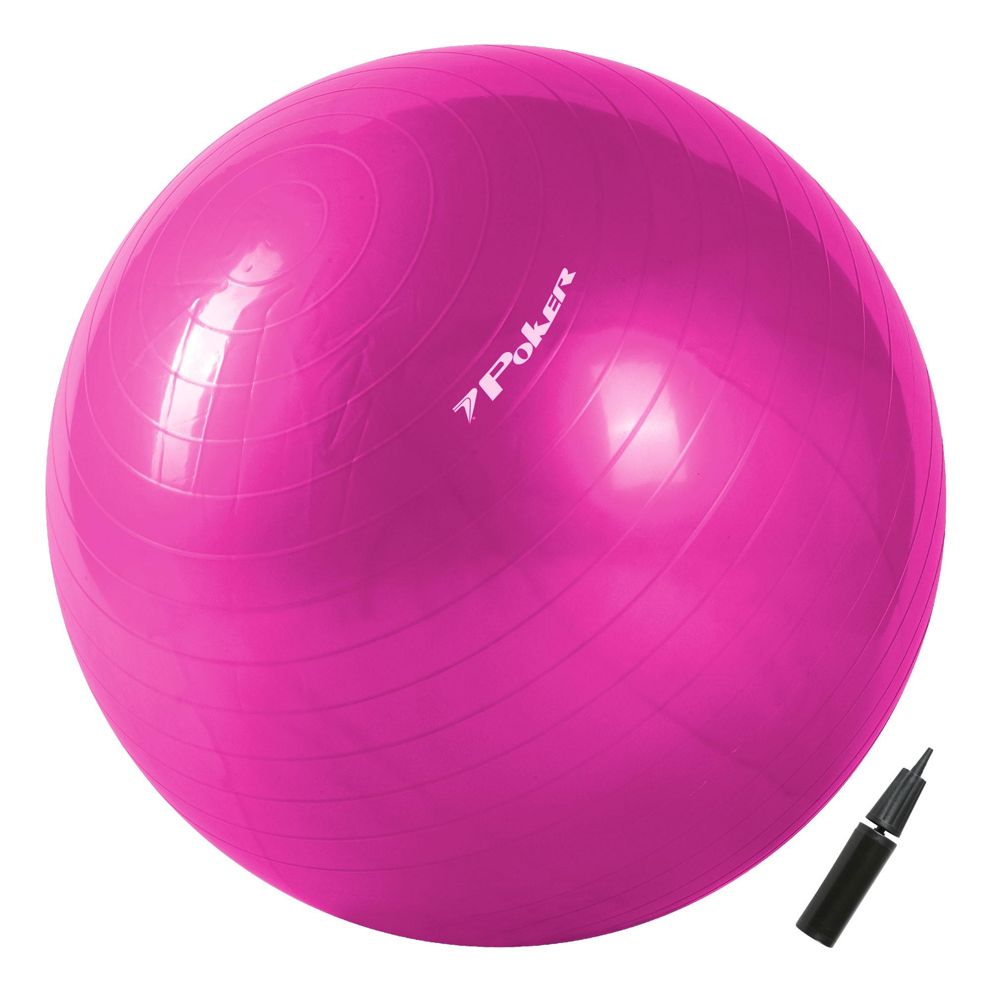 Bola de Pilates Suiça Gym Ball com Bomba de Ar - 55cm 09092