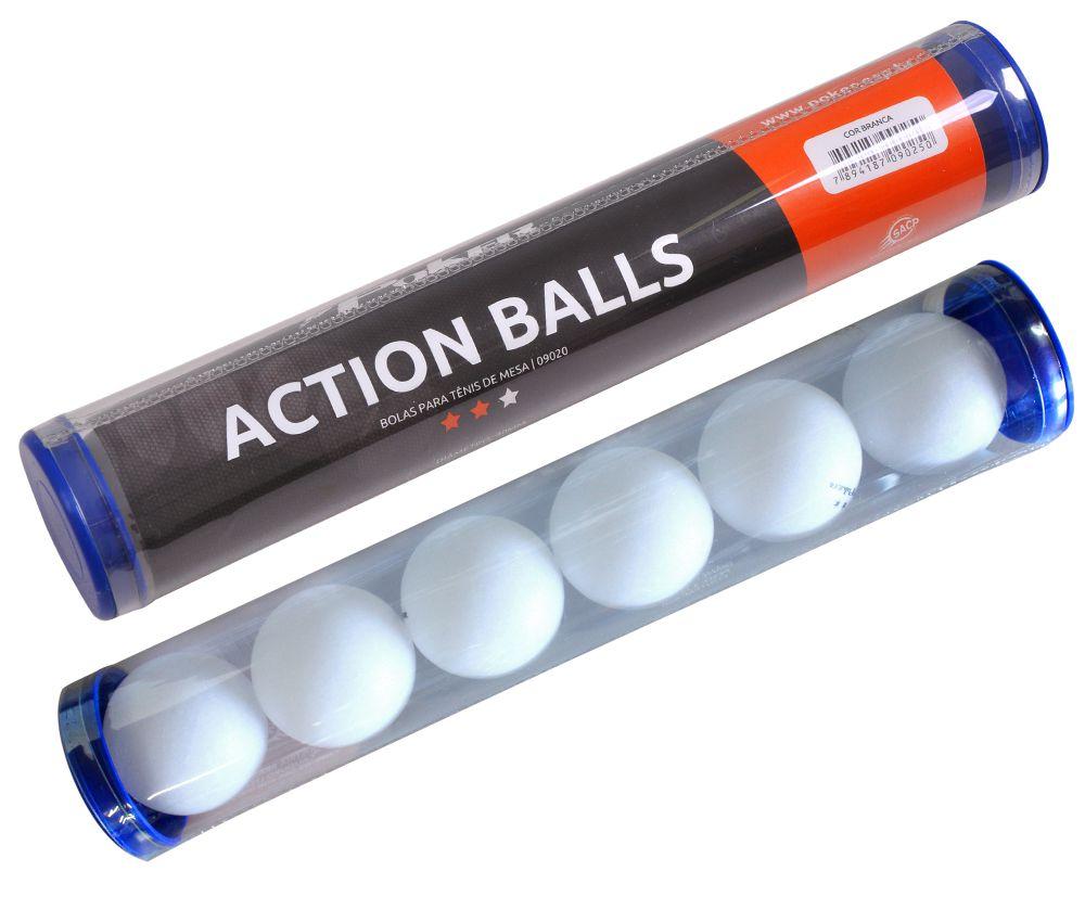 Bola Tenis de Mesa PP 40mm Pote 6pçs 09055