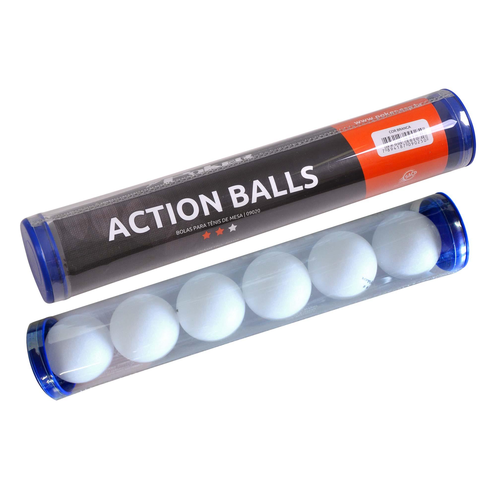Bolas Para Tênis de Mesa Action Balls 40mm 09020
