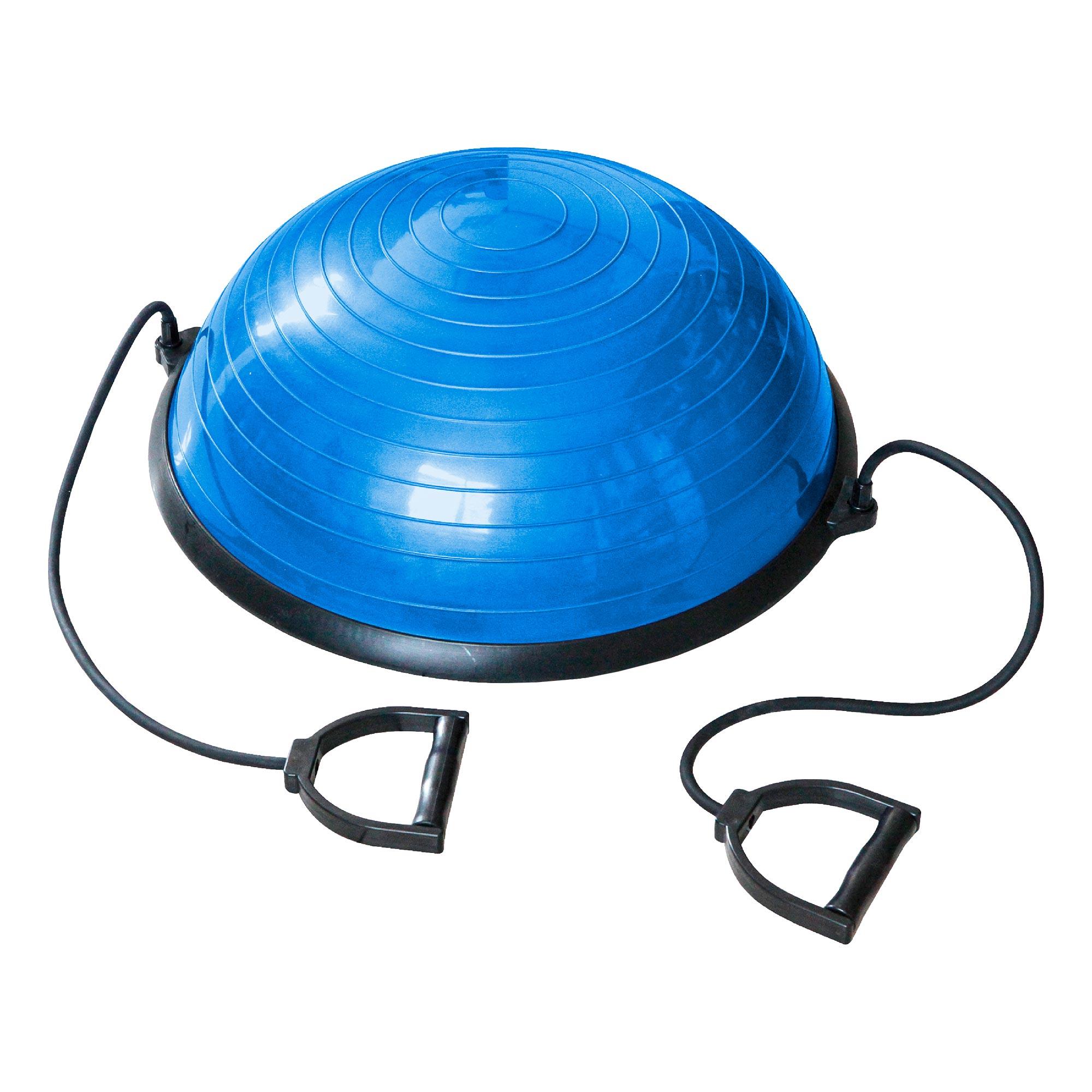 Bosu Ball de Equilíbrio com Alças e Bomba de Ar 58x25cm 09102