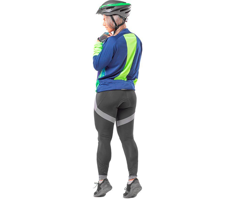 Camisa Ciclista C/ Zíper M/L Thunder 04089