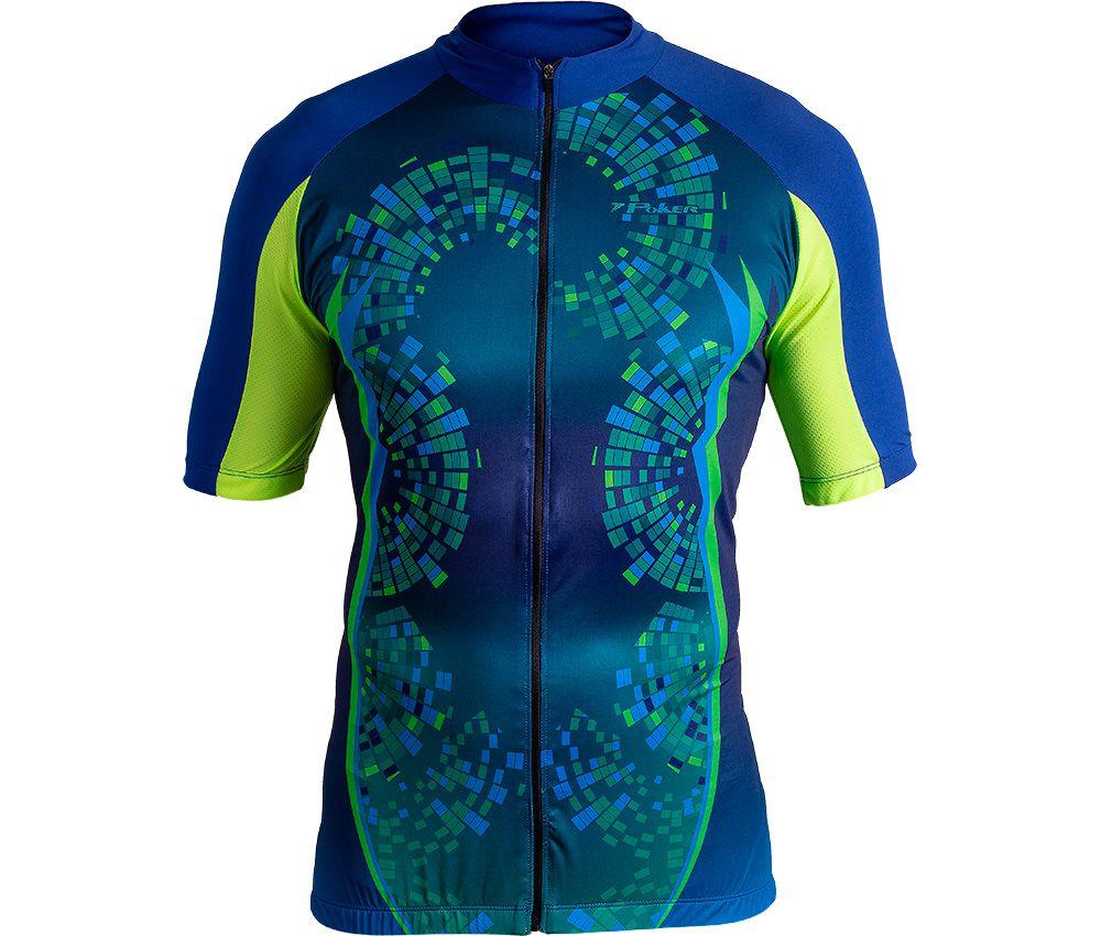 Camisa Ciclista C/ Zíper Total Bright 04095