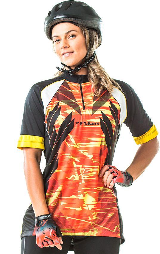 Camisa Ciclista C/ Zíper Trace 04037