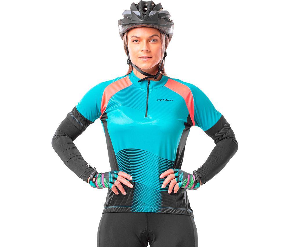 Camisa Ciclista Feminina C/ Ziper Amber 04127