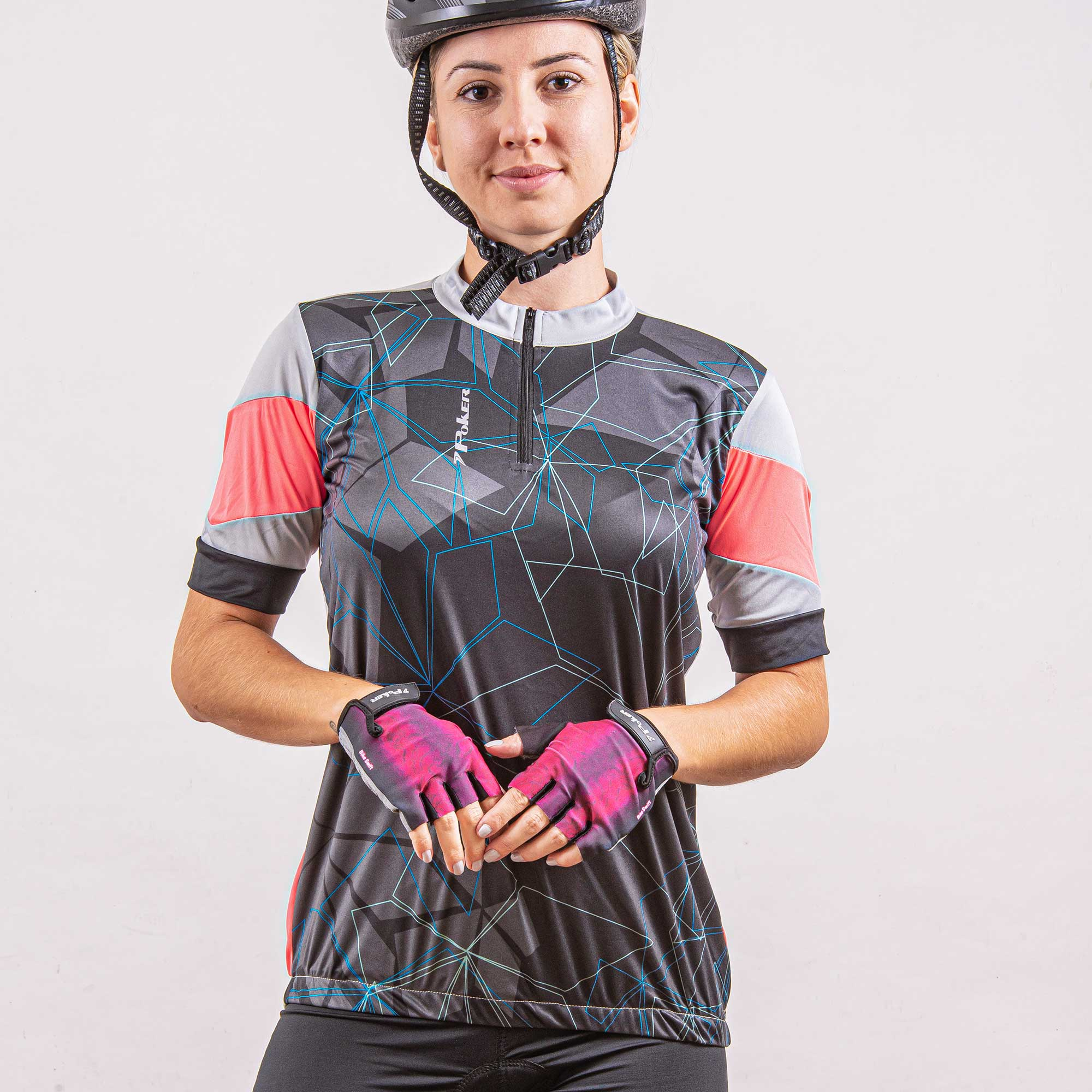 Camisa Ciclista Feminina C/ Zíper Dash 04207