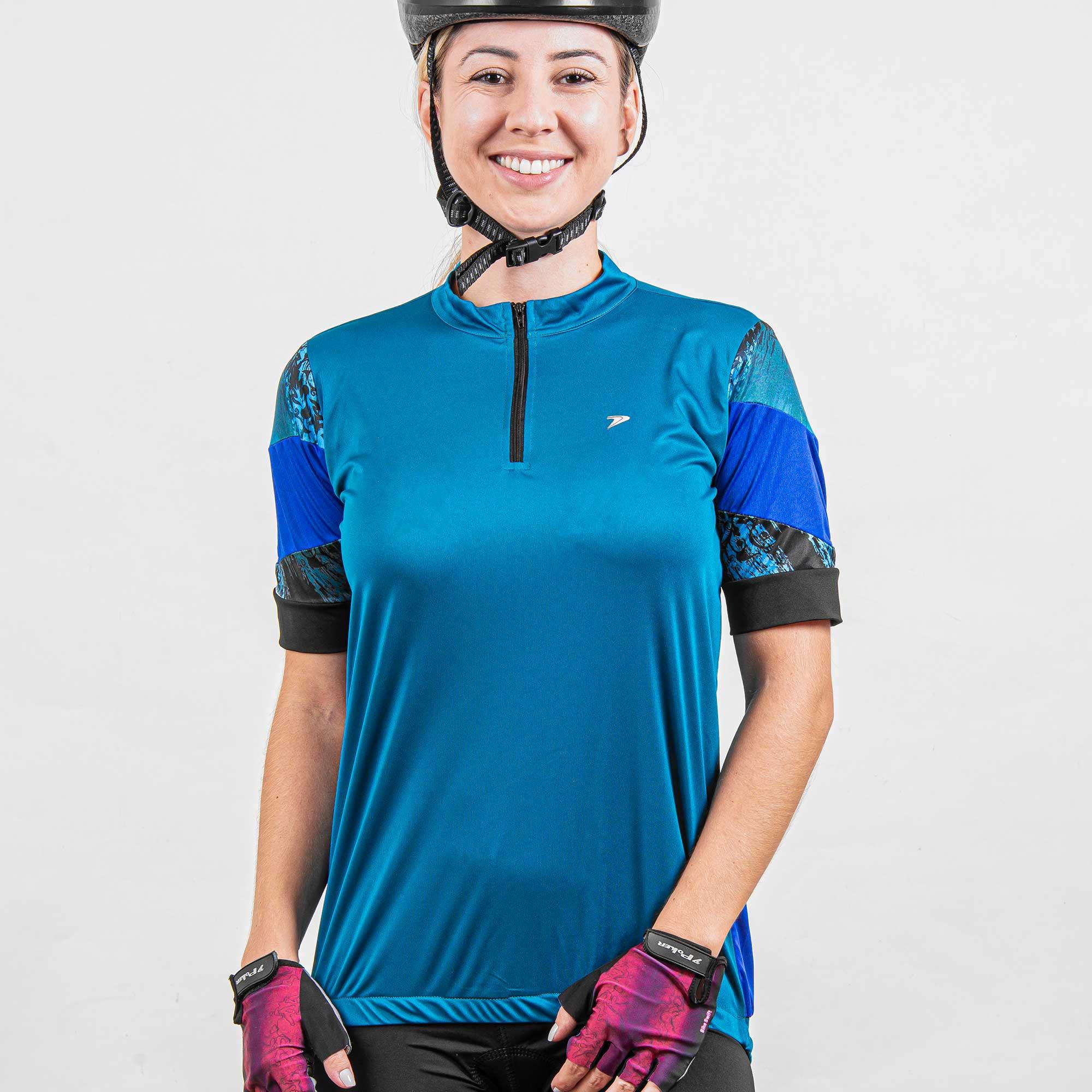 Camisa Ciclista Feminina C/ Zíper Glare 04215
