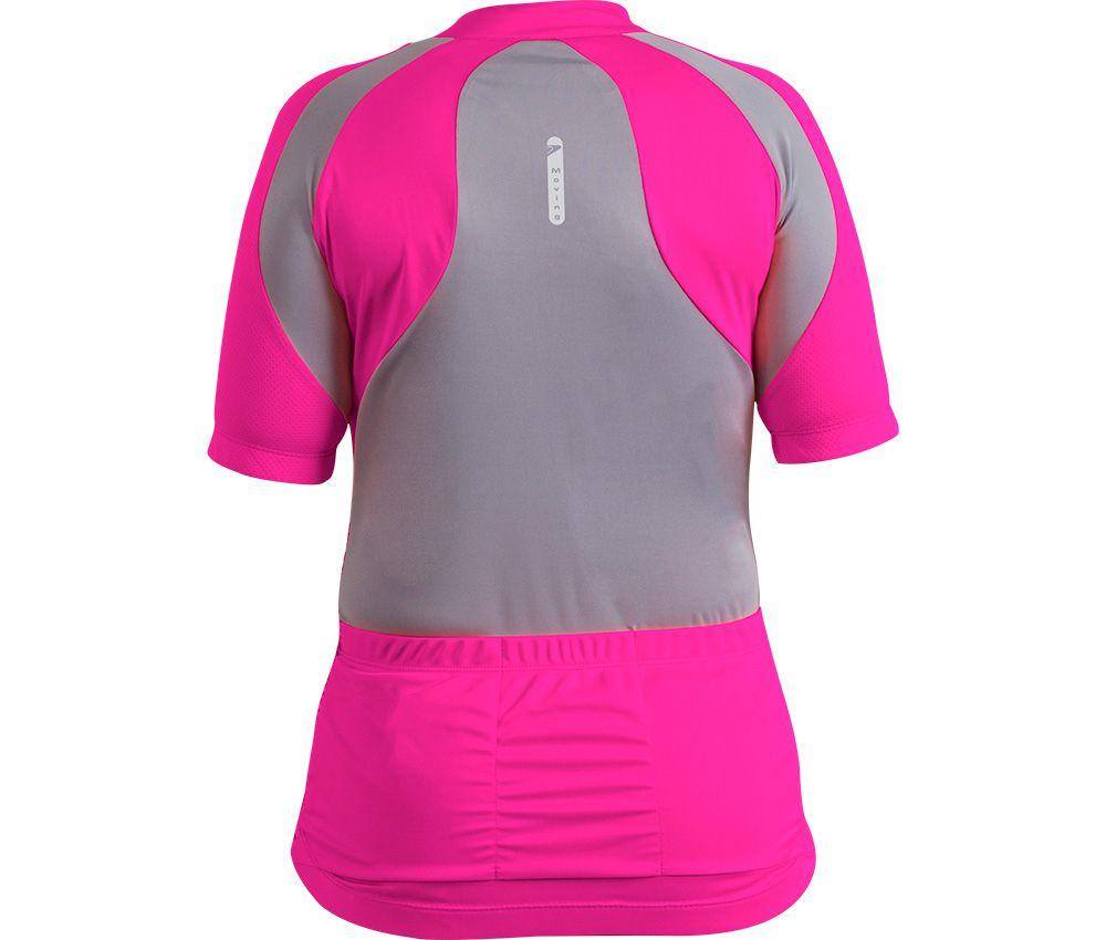 Camisa Ciclista Feminina C/ Zíper Platina 04959