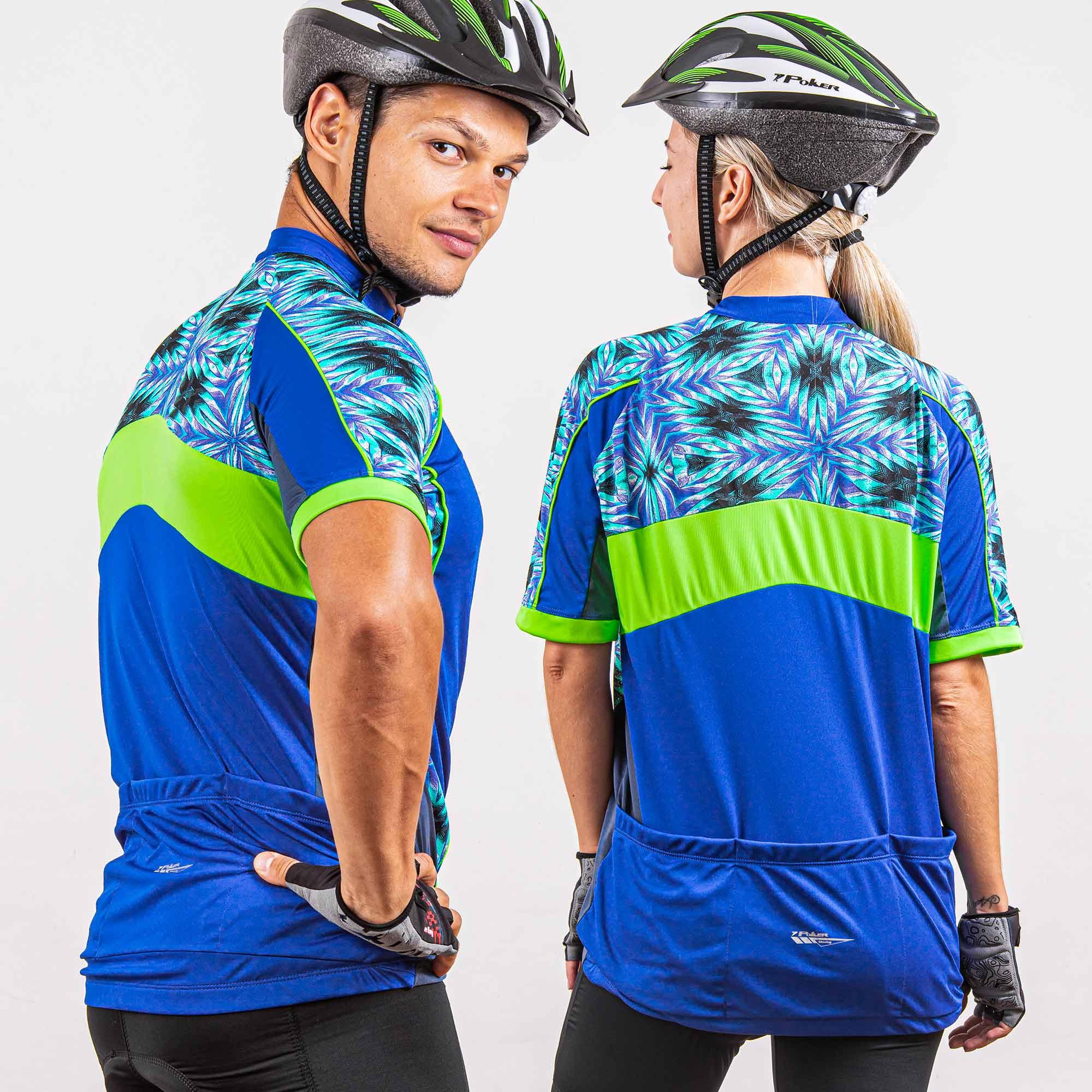 Camisa Ciclista Manga Curta Zíper Parcial Dreamer 04225