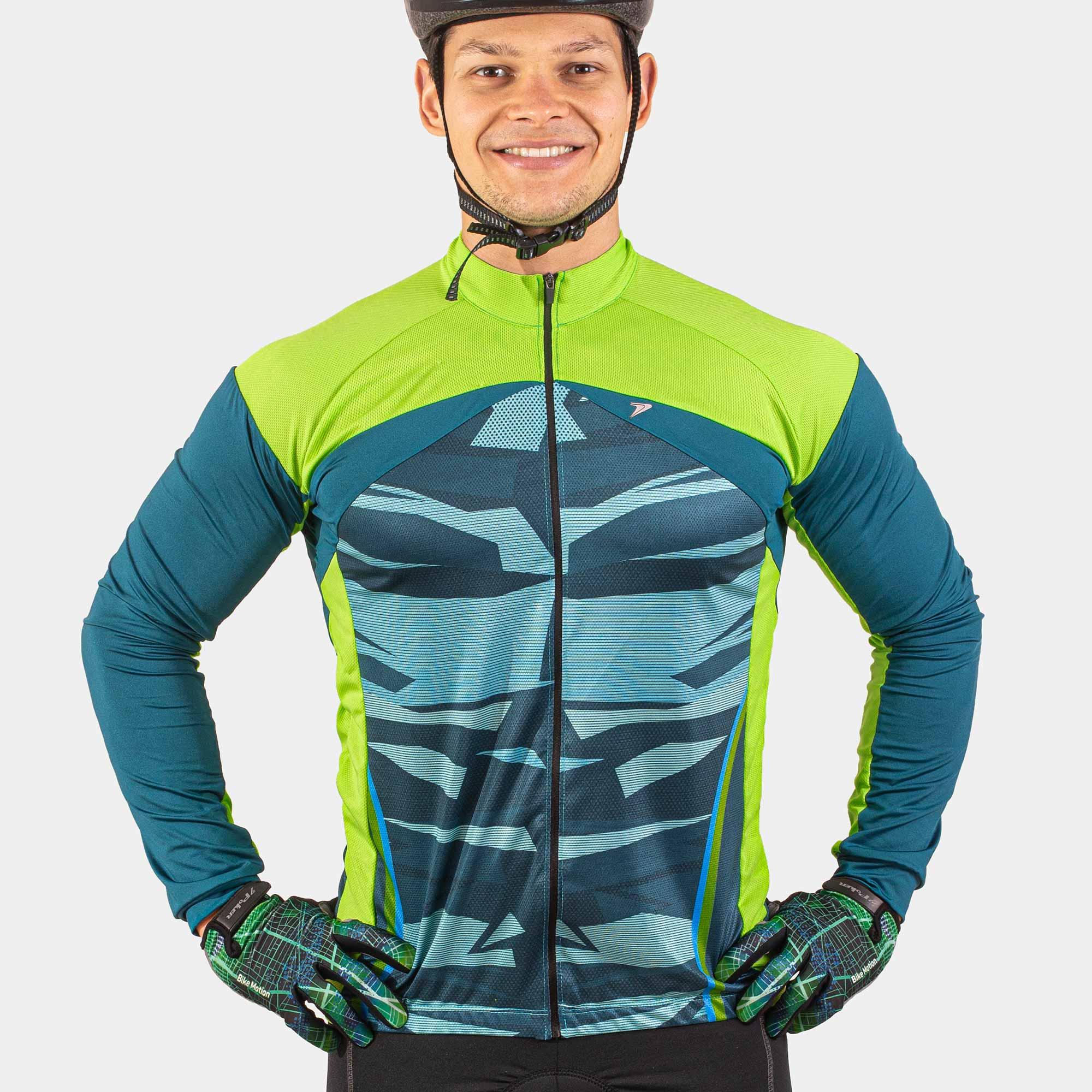 Camisa Ciclista Manga Longa Zíper Total Thunderstorm II 04300