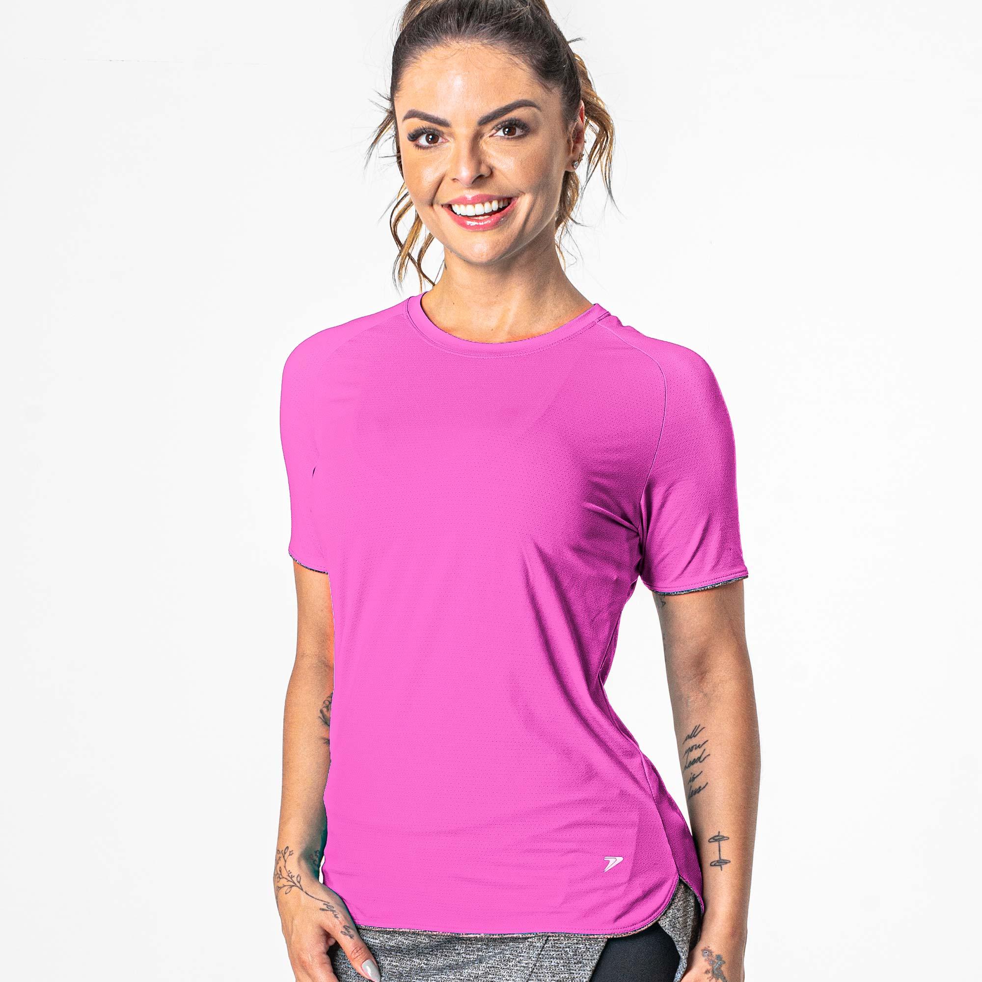 Camiseta Comfort Poliamida Runner Feminina Manga Curta 04261