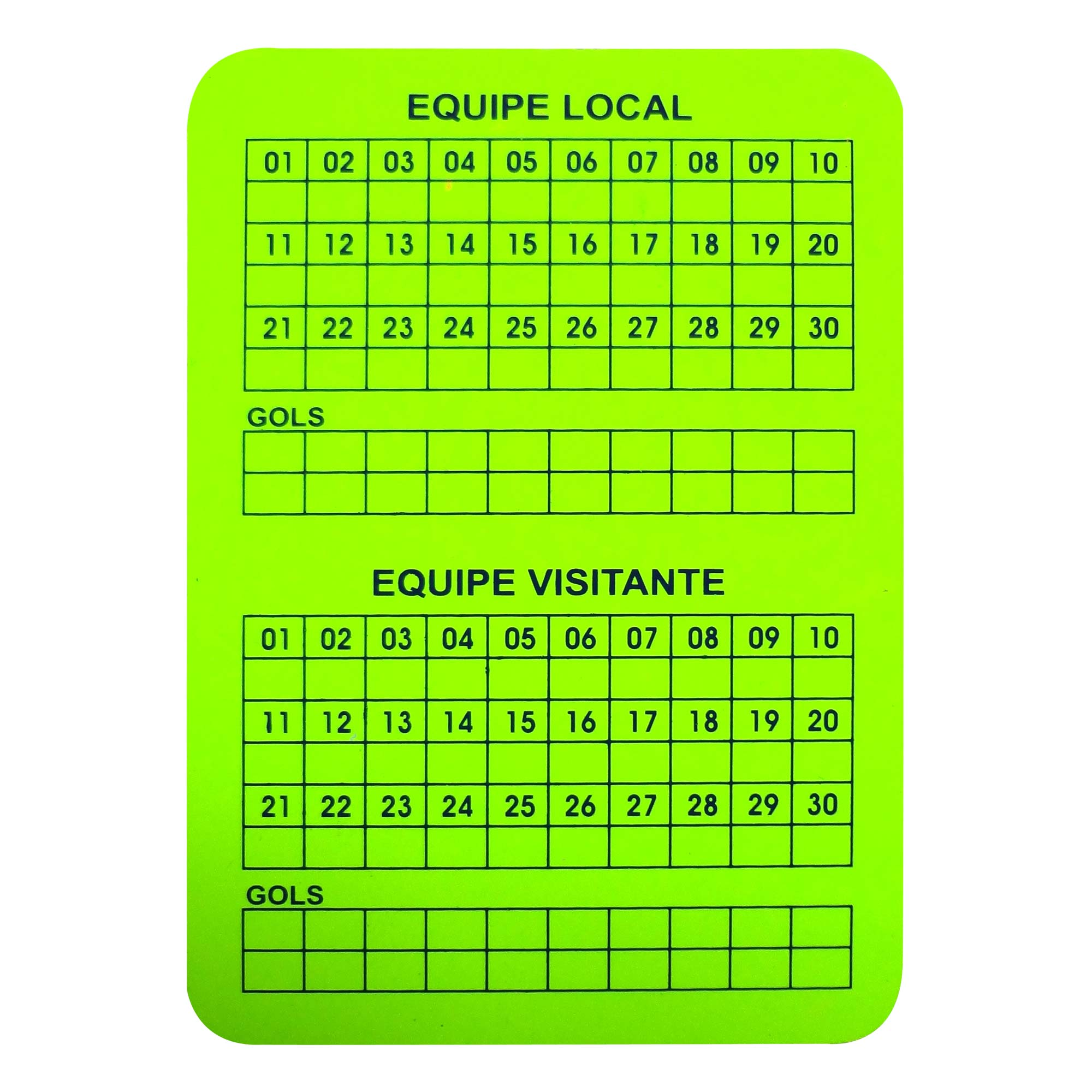 Cartao Futsal Arbitro Oficial. 08058