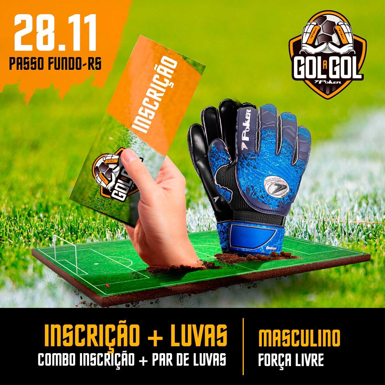 Combo (Inscrição + Luvas) Gol a Gol Poker – etapa Passo Fundo – 28/11/2020