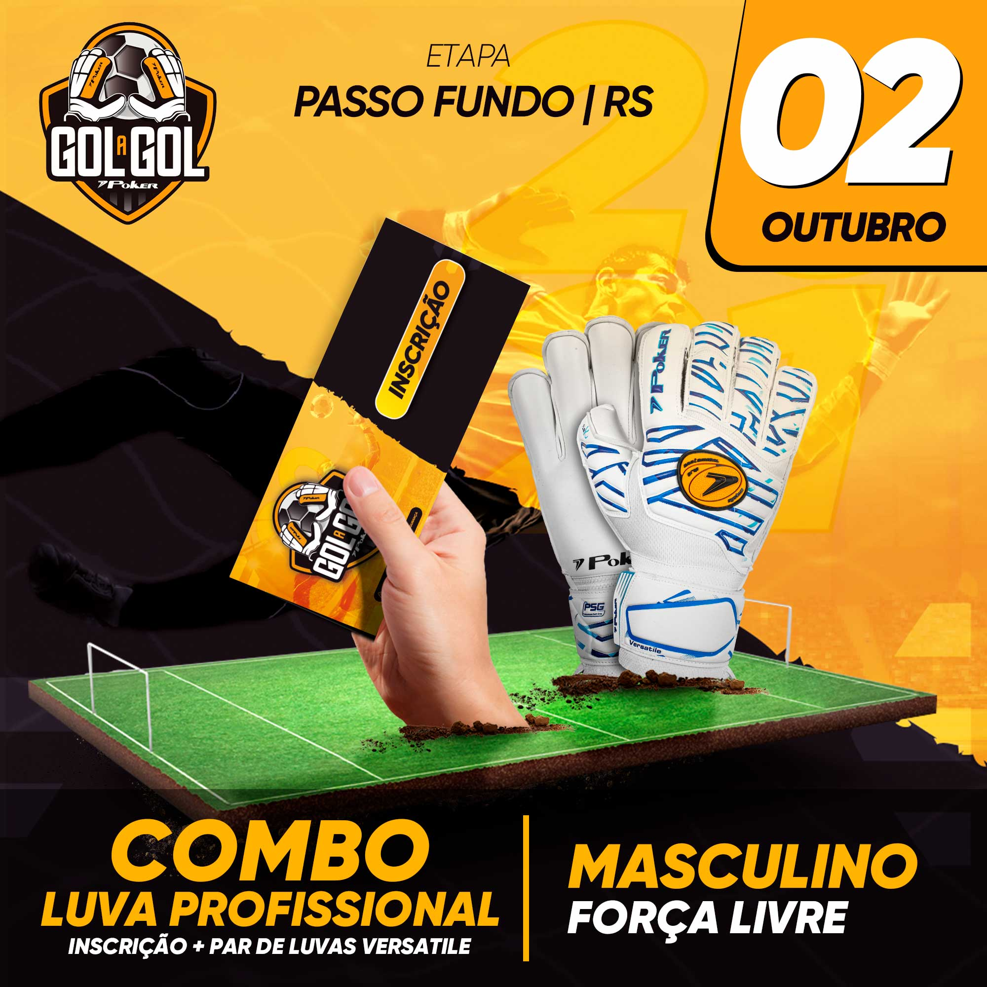 Combo Luva Profissional   Gol a Gol Passo Fundo/RS  02/10/2021