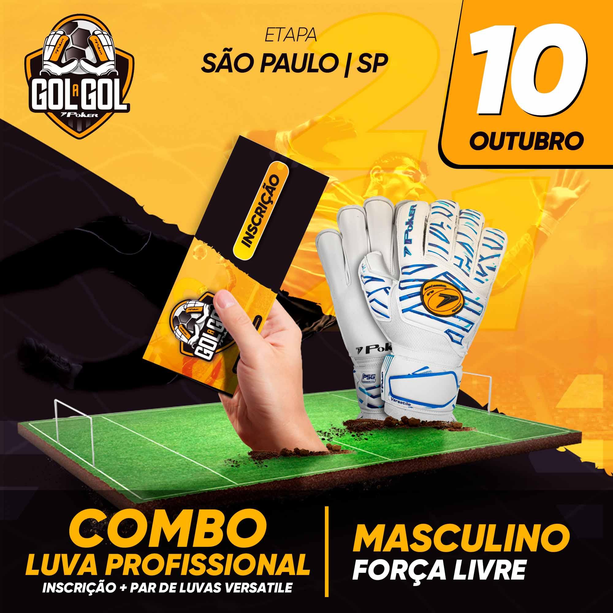 Combo Luva Profissional   Gol a Gol São Paulo/SP  10/10/2021