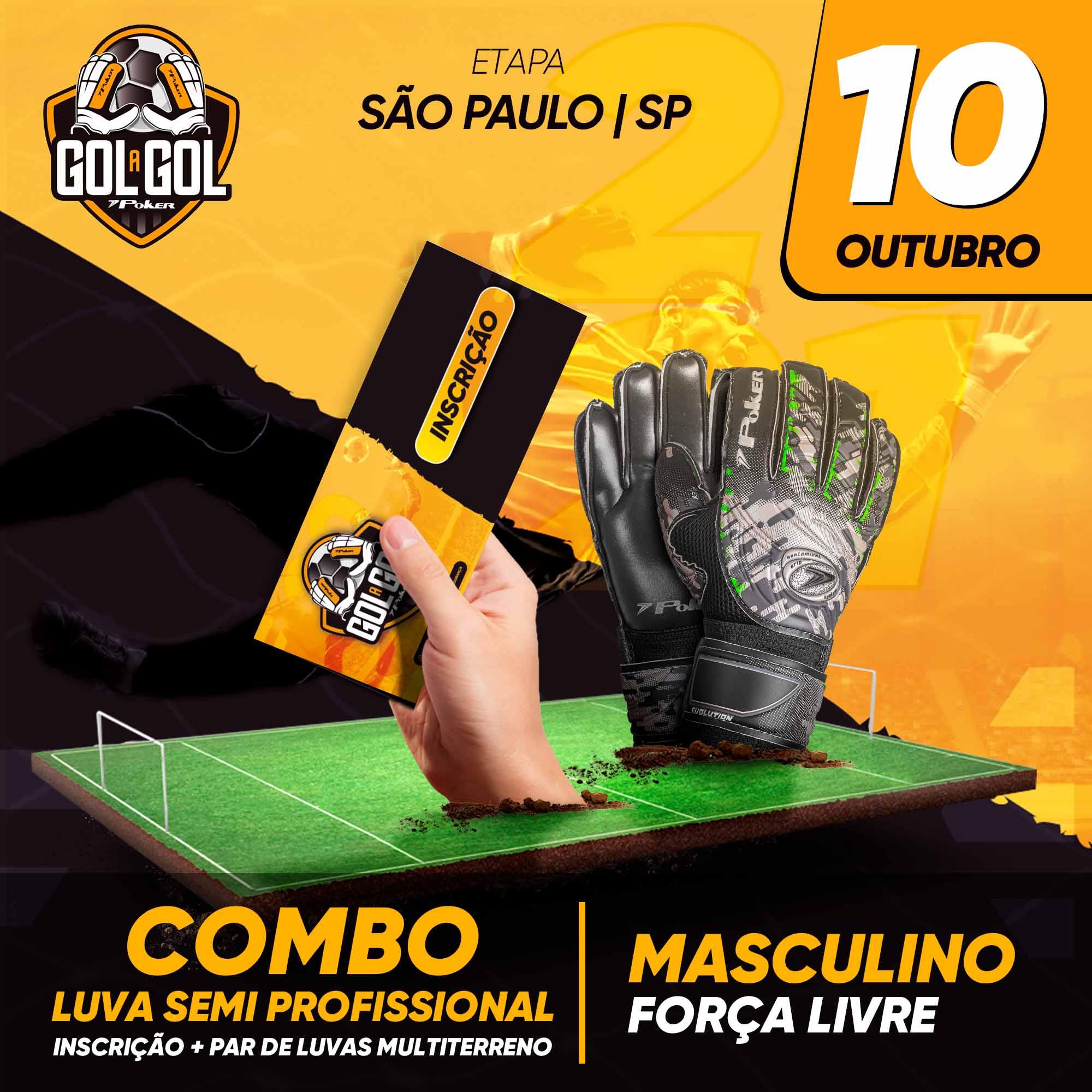 Combo Luva Semi-Profissional   Gol a Gol São Paulo/SP 10/10/2021
