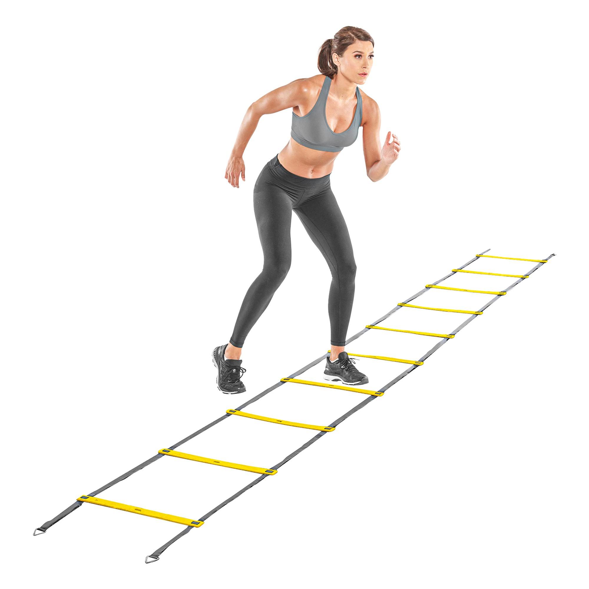Escada Agilidade Pró Treinamento Funcional - 9 degraus e 4,5 mts - Nylon e Varetas de PVC. 09099