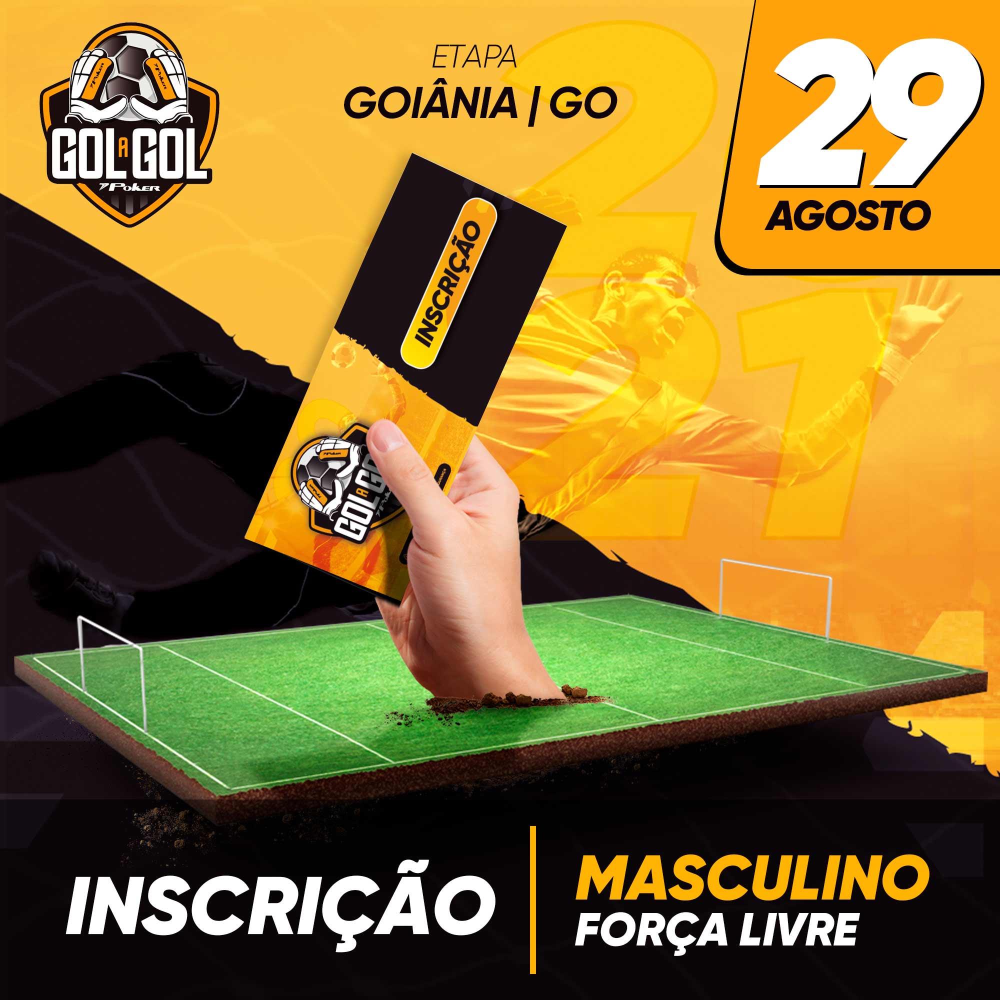Inscrição (sem luvas) Gol a Gol Goiânia/GO  29/08/2021