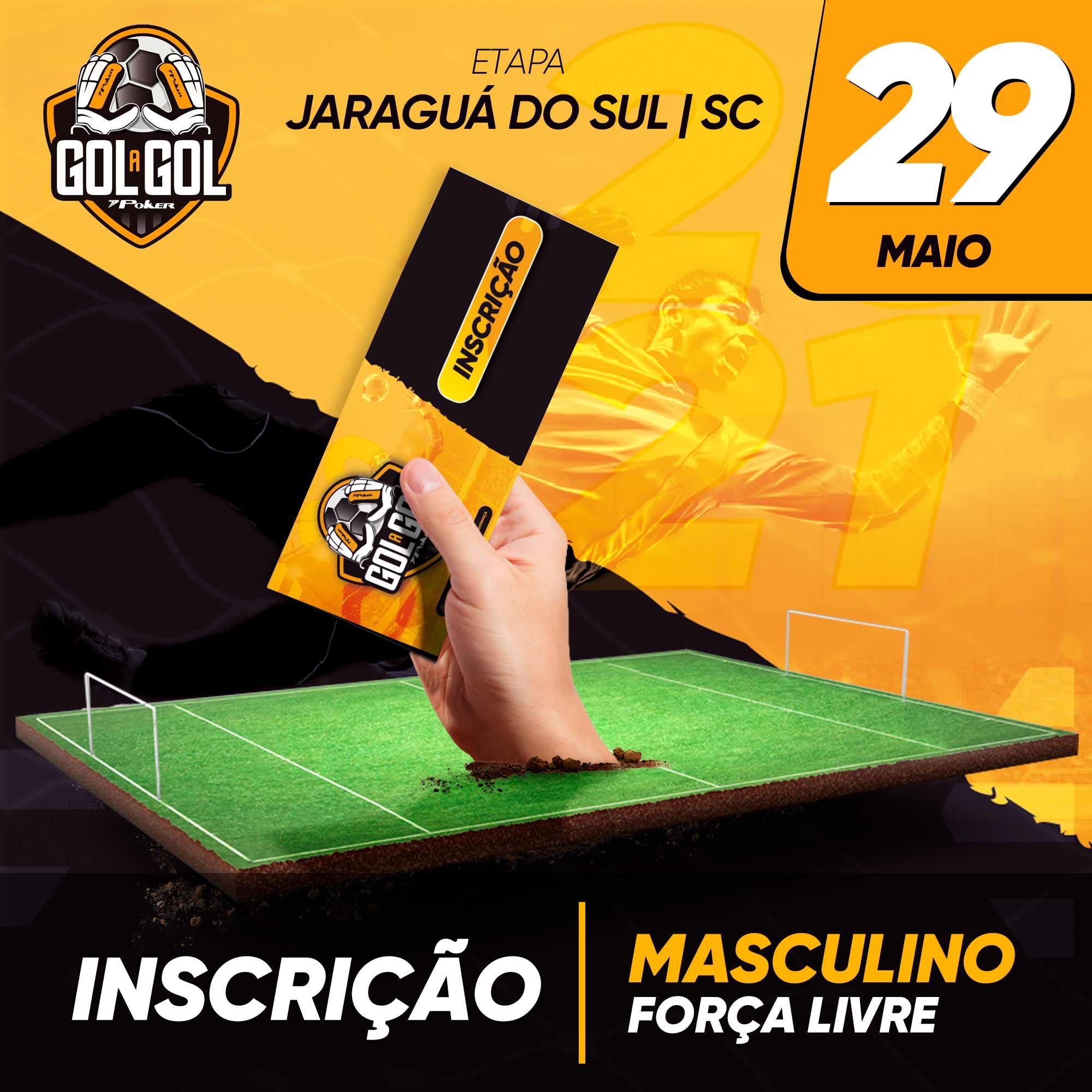Inscrição (sem luvas) Gol a Gol Jaraguá do Sul/SC – 01/05/2021