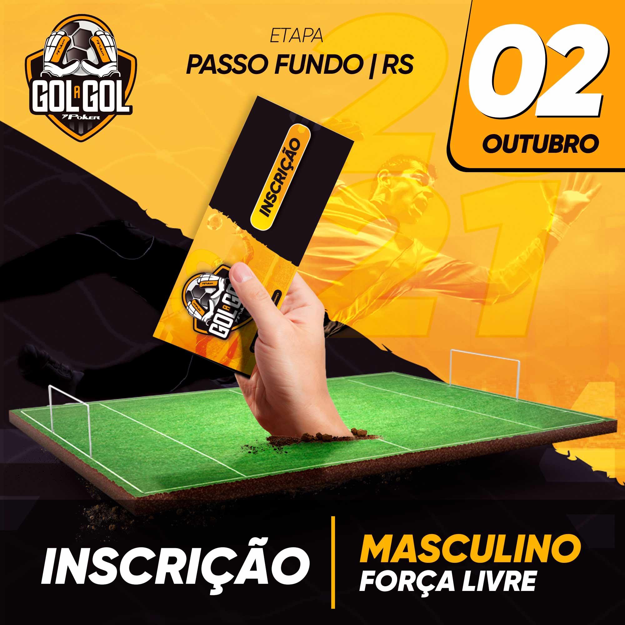 Inscrição (sem luvas) Gol a Gol Passo Fundo/RS  02/10/2021