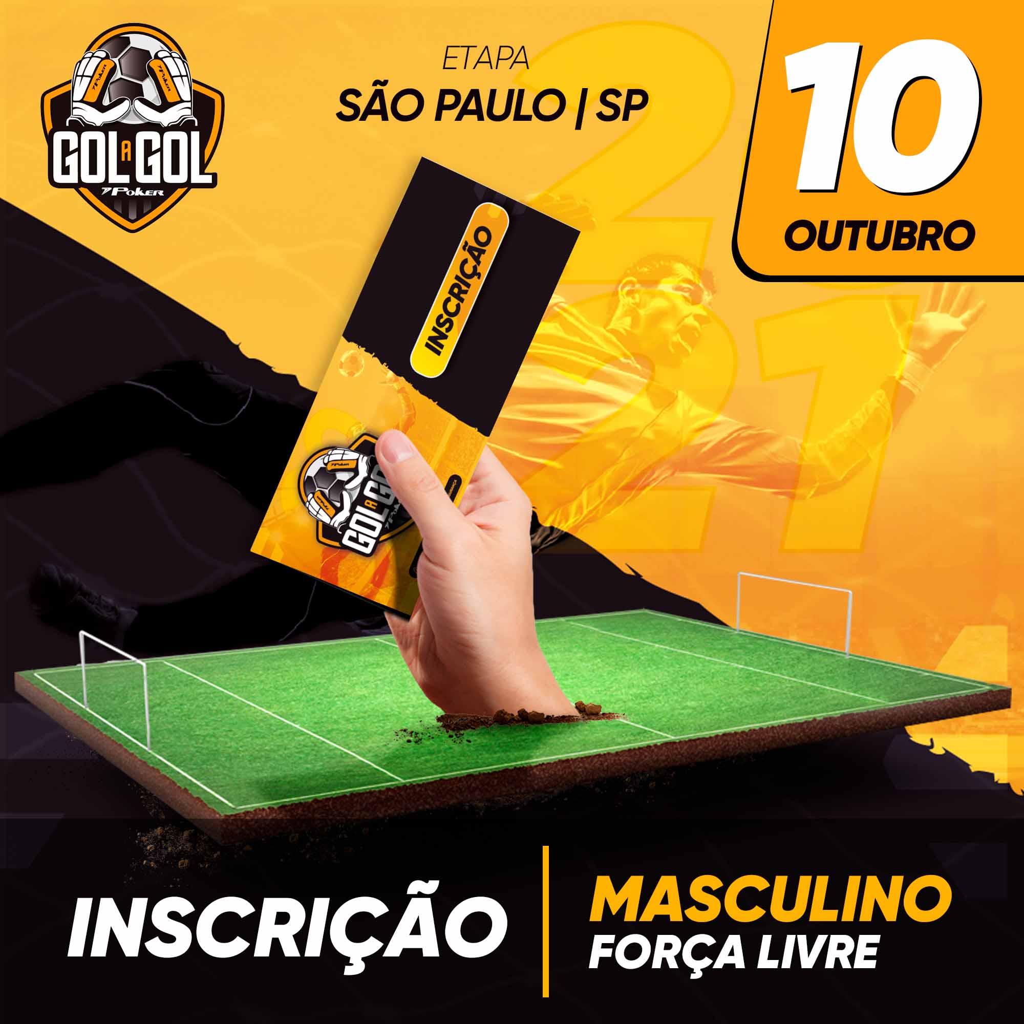 Inscrição (sem luvas) Gol a Gol São Paulo/SP  10/10/2021