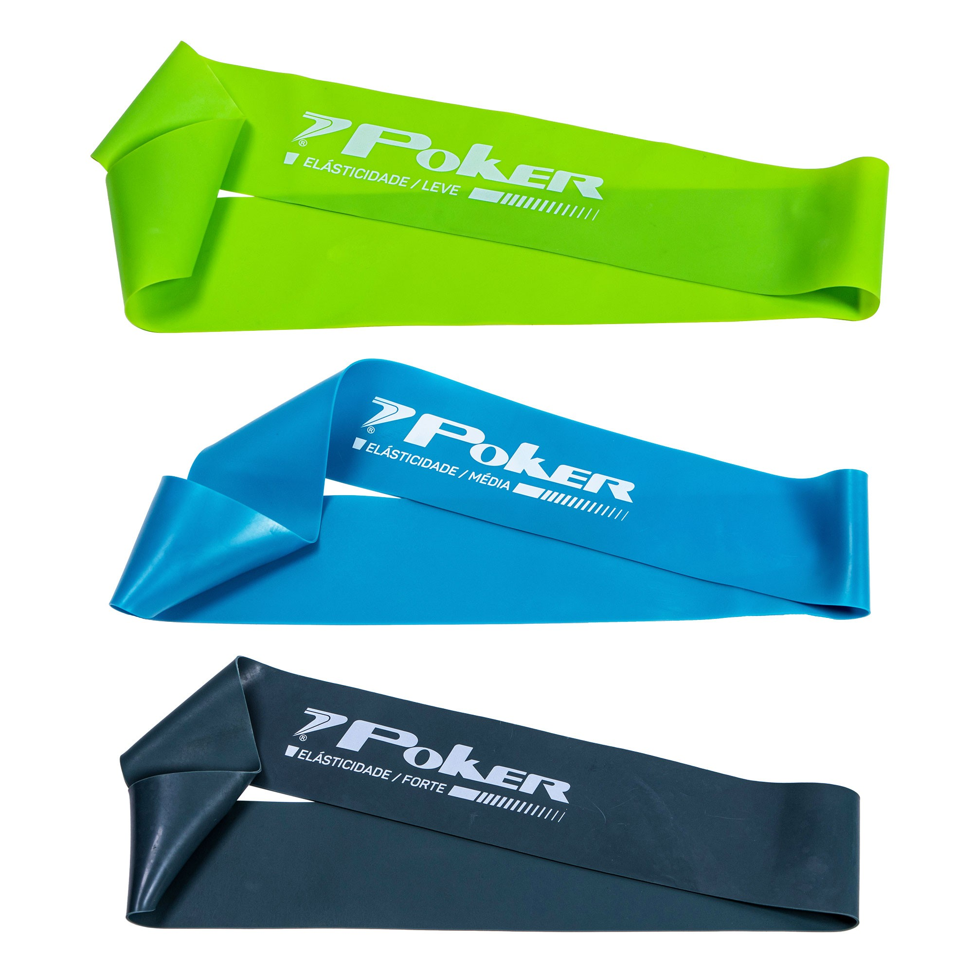 Kit com 3 Mini Bands Poker Leve/Média/Forte 600x50x 0.4/0.6/0.8mm 09113