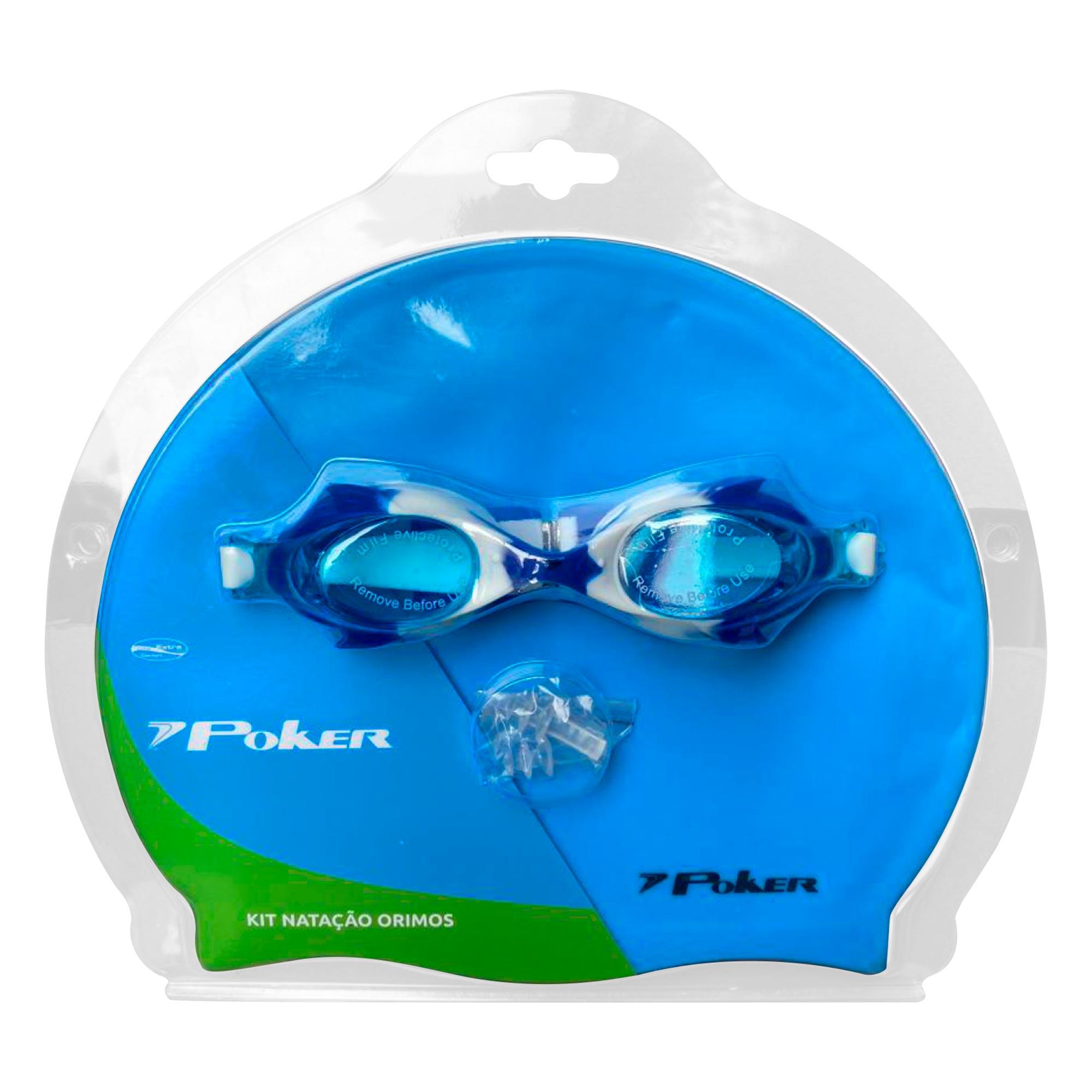 Kit Óculos + Touca + Protetor de Ouvido de Natação Junior Orimos 13156