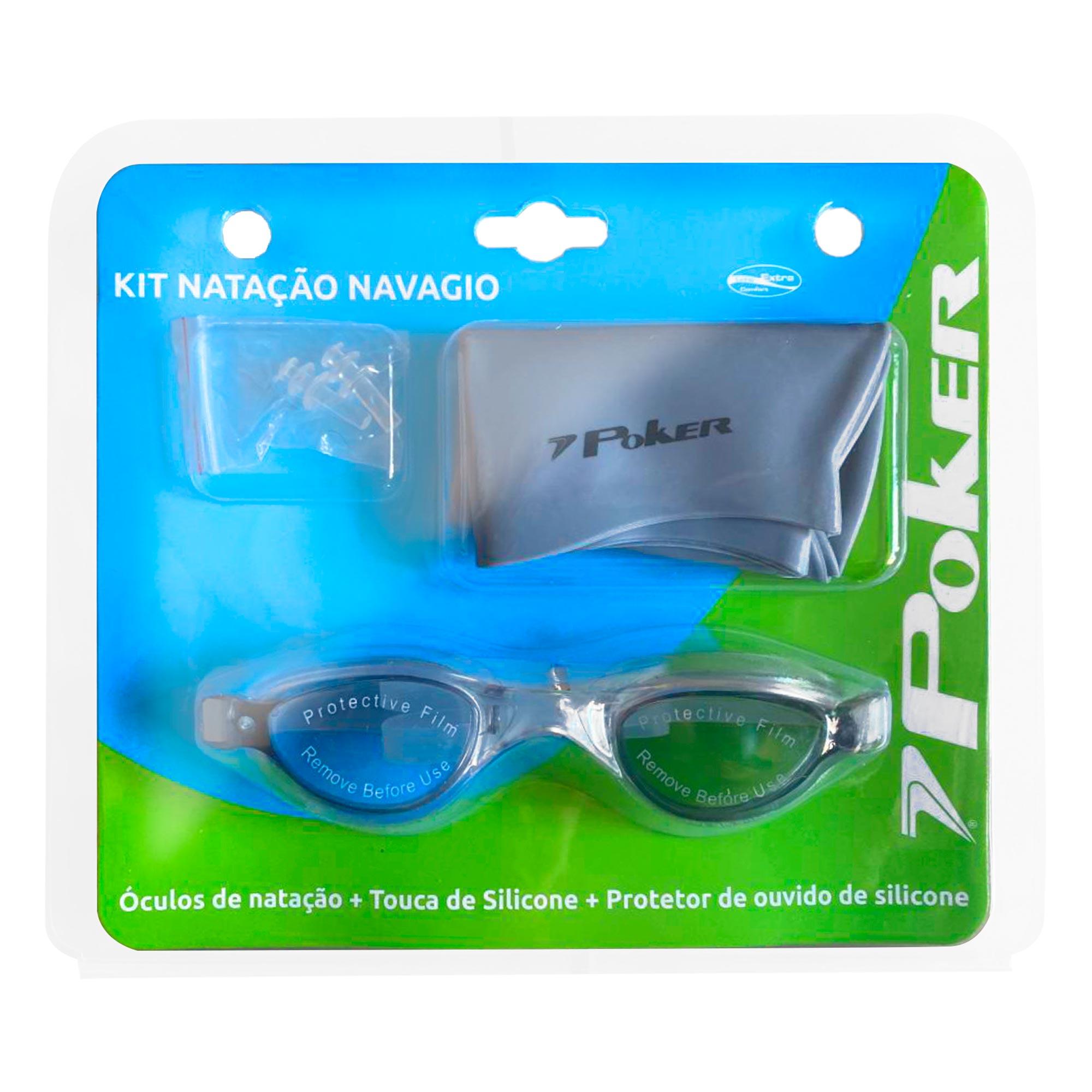 Kit Óculos + Touca + Protetor de Ouvido de Natação Navagio 13157