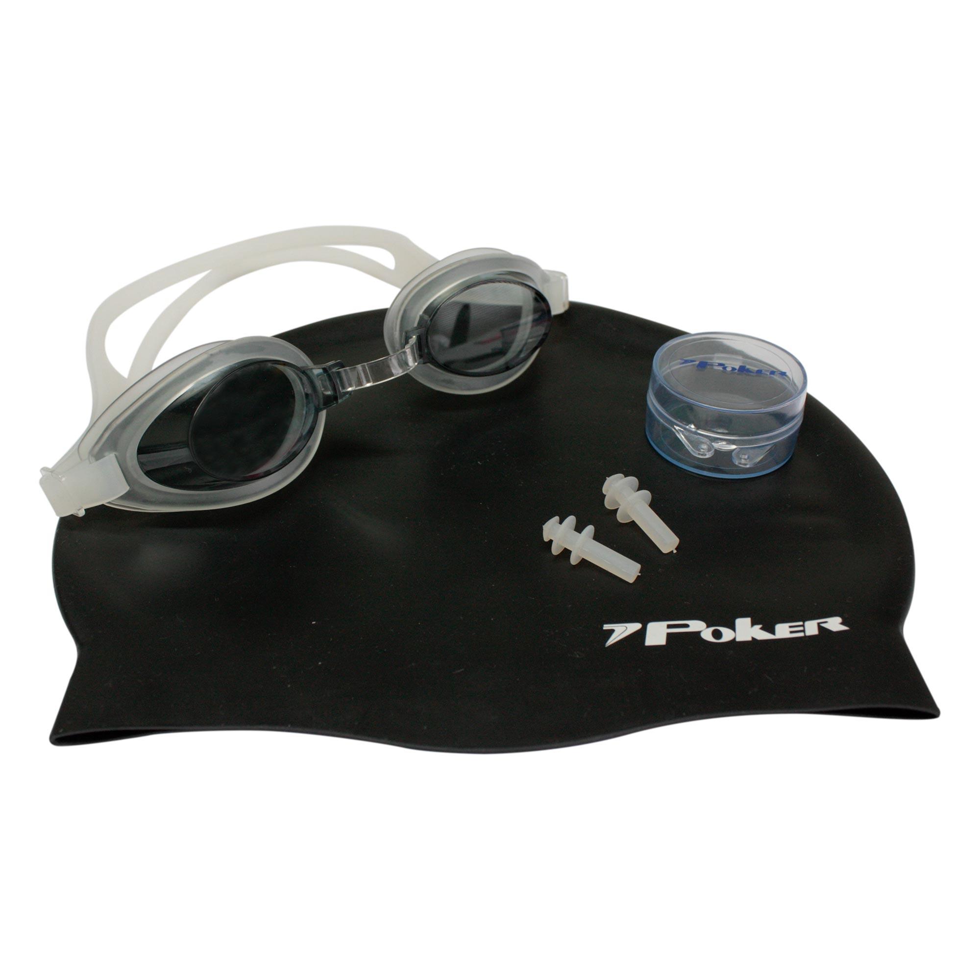 Kit Oculos + Touca + Protetor de Ouvidos de Natação Aruba 13050