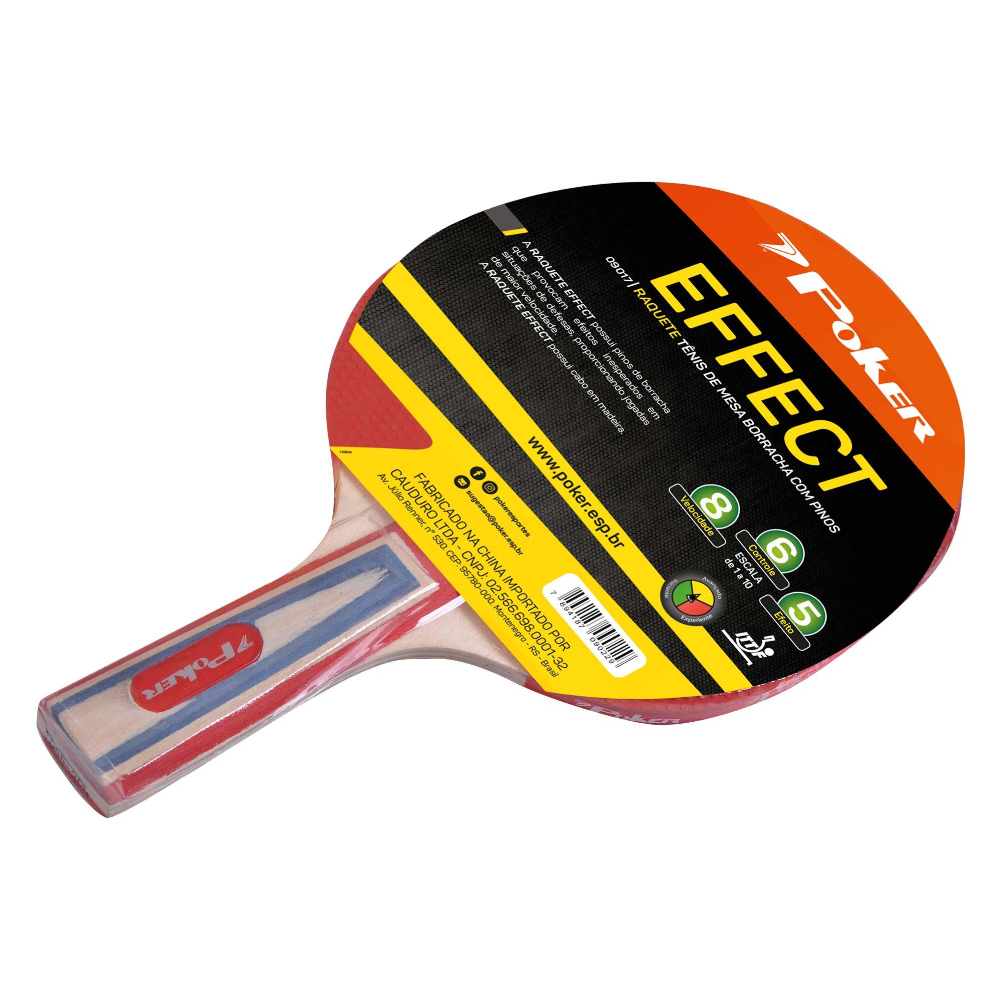 Raquete Tenis de Mesa Borracha Com Pinos Effect 09017