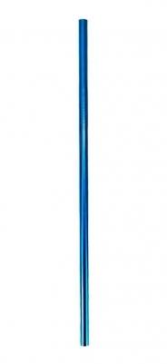 Canudo de Aço Inox Azul Básico Reto