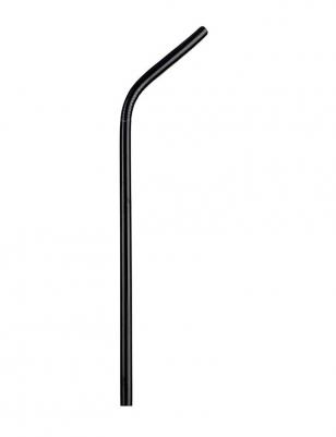 Canudo de Aço Inox Preto Curvo