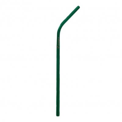 Canudo de Aço Inox Verde Curvo
