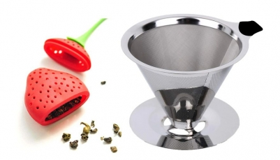 Coador de Café Inox 102 e Infusor de Chá