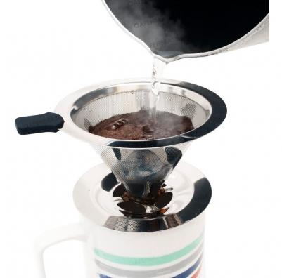 Filtro de Café Inox Portátil Individual com Base