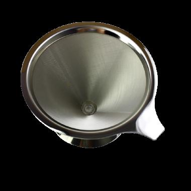 Filtro de Café Inox Individual com Base