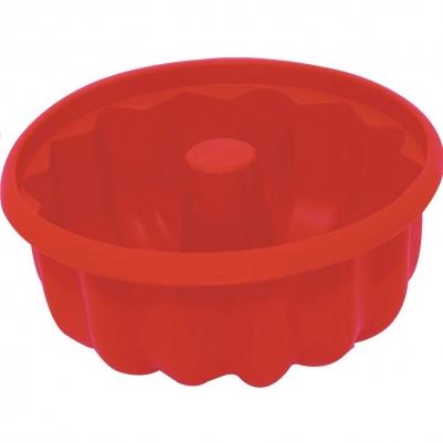 Forma de Bolo de Silicone Redonda com Furo