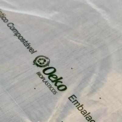 Kit 100 Sacolas Bioplásticas Compostáveis