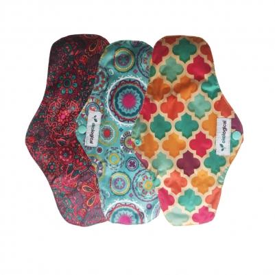Kit de 3 Absorventes Menstruais de Pano Reutilizáveis